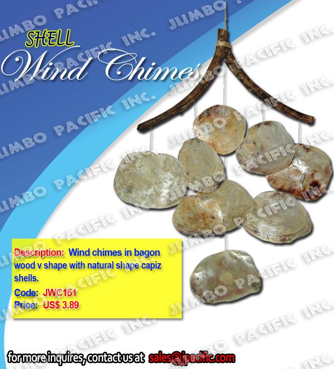 Wind chimes in bagon wood
